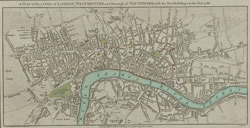 A PLAN of the CITIES of LONDON & WESTMINSTER and Borough of SOUTHWARK with the New buildings to the Year 1786.